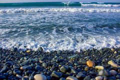Your winter blue Sea Pebbles stock images