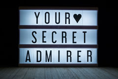 Your secret admirer Royalty Free Stock Photos