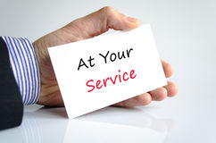 At Your Service Royalty Free Stock Photo