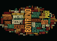 Your Sexual Past Does It Bother Your Boyfriend Text Background  Word Cloud Concept Royalty Free Stock Image
