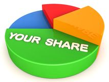 Your share of profit Royalty Free Stock Photography