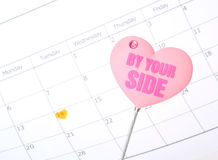 By your side. Heart shape Royalty Free Stock Photography