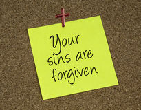 Your sins are forgiven Royalty Free Stock Images