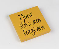 Your sins are forgiven Royalty Free Stock Image