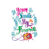 Your smile is my favorite smile guote Stock Image