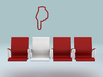 Your special seat concept , rendered in 3d Stock Image
