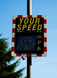 Your speed: smiling face. Royalty Free Stock Images