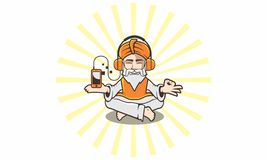 Guru business technology logo icon vector vector illustration