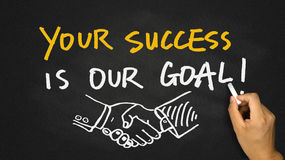 Your success is our goal on blackboard Royalty Free Stock Photography