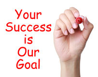 Your success is our goal stock photography