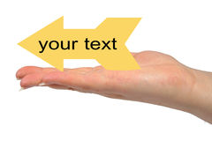 YOUR TEXT Stock Image