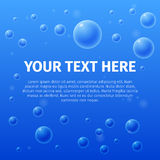 Your text here on  bubble background Stock Photos