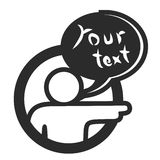 Your text pointing Stock Images