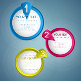 Your text on the three circles drawn Royalty Free Stock Photos