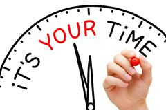 It Is Your Time Clock Concept stock image