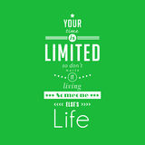 Your time is limited - quote typographical poster by Steve Jobs Stock Photo