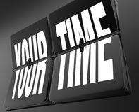 Your Time Words on Retro Clock Flip Tiles Personal Break Vacatio Stock Images