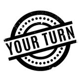 Your Turn rubber stamp. Grunge design with dust scratches. Effects can be easily removed for a clean, crisp look. Color is easily changed Royalty Free Stock Photo
