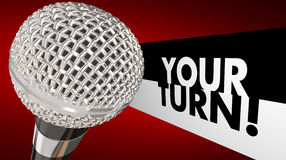 Your Turn Speak Up Talk Share Opinion Ideas Microphone 3d Illust. Ration Royalty Free Stock Image