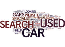 Your Used Cars Search Is Quicker When Conducted Online Text Background  Word Cloud Concept Royalty Free Stock Image