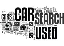 Your Used Cars Search Is Quicker When Conducted Online Word Cloud Royalty Free Stock Images