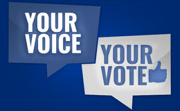 Your Voice Your Vote  3D Render USA Design Stock Photo