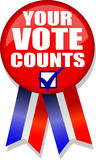 Your Vote Counts Button/AI Stock Photos
