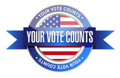 Your vote counts seal stamp illustration. Design over a white background Royalty Free Stock Photography