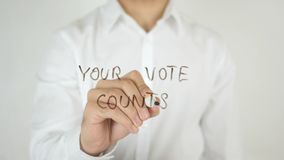 Your Vote Counts, Written on Glass stock photography