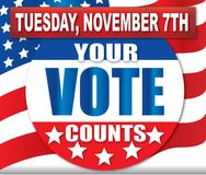 YOUR VOTE COUNTS royalty free illustration