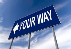 Your way billboard Royalty Free Stock Image