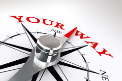 Your way conceptual compass rose Royalty Free Stock Photography