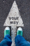 Your way sign Royalty Free Stock Photos