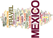 Your Way To Mexico A Travel Guide Text Background Word Cloud Concept vector illustration