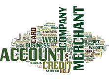 Your Web Merchant Account Text Background  Word Cloud Concept Stock Images