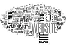 Is Your Website Ugly Enough Text Background  Word Cloud Concept Stock Photography