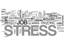 Your Work And Your Stress Word Cloud. YOUR WORK AND YOUR STRESS TEXT WORD CLOUD CONCEPT Royalty Free Stock Photography