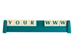 Your www. Sign made by blocks Stock Image