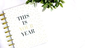 This Is Your Year Notebook Royalty Free Stock Image