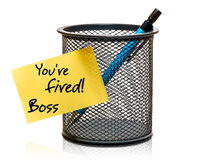 Youre fired! Royalty Free Stock Image