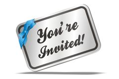 Free Youre Invited Royalty Free Stock Image - 27645356