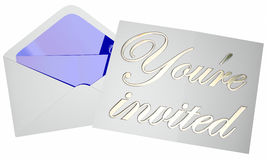 Youre Invited Invitation Envelope Party Event Open Note Message Stock Photo