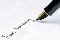 Yours Sincerely Stock Photos
