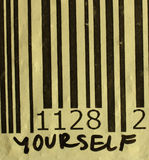 Yourself na prętowym kodzie Obrazy Stock