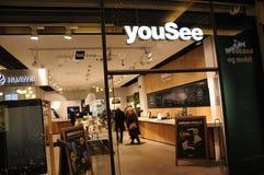 YOUSEE-HET KANAALleverancier VAN TV Stock Foto