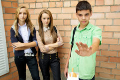 Youth Against Smoking Stock Image