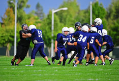 Free Youth American Football Blocking Stock Photography - 21257412