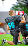 Youth American Football hydrating Stock Photos