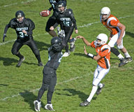 Youth American football play stock images
