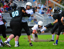 Youth American Football Punt Royalty Free Stock Photo